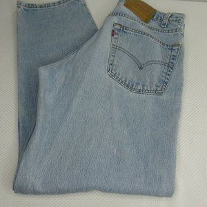 Vintage 80s Levis 550 Relaxed Fit Blue Jeans 33